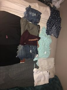 Bag of used and non-used pre teen/ teen clothes