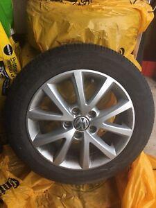 OEM VW Rims with Turanza EL400 tires