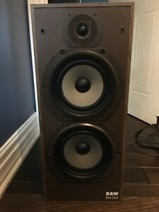 B&W DM220 speakers