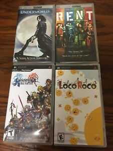 PSP games and movies for sale