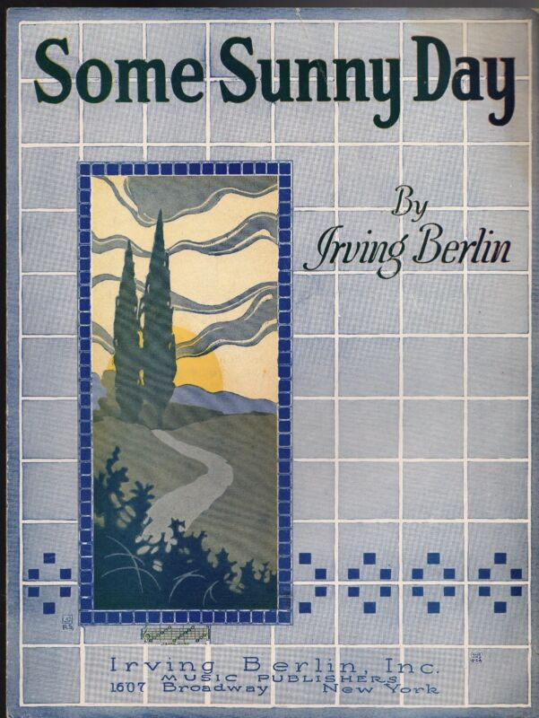 SOME SUNNY DAY Sheet Music 1922  Irving Berlin   MINT   R.S.