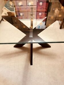 "Dining table with 42"" square glass"