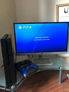 PS4 + 22 inch monitor + 2 controllers + games