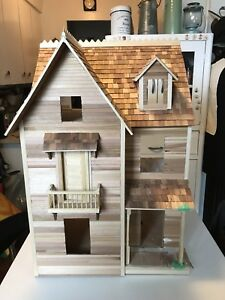 Partially assembled dollhouse