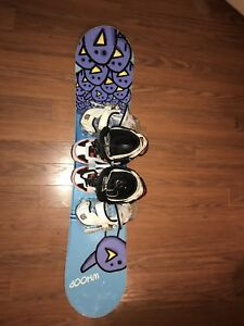 Snowboard and boots