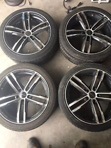Tires and rims for sale 215 45 r18 in good sha