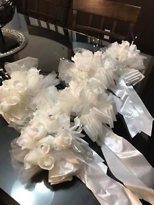 Silk White Flowers