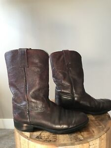 Vintage leather cowboy boots for Teepee Creek Rodeo