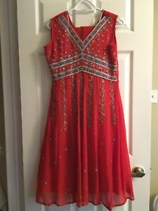 Indian Red & Blue Long Dress/Suit