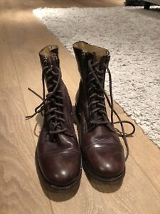 dark brown leather frye boots size 8.5