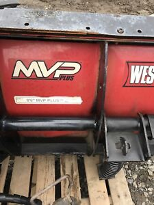 """8'6"""" Top of the line V Plow  Fisher and Western"""