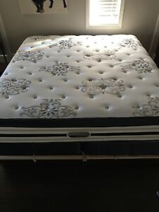 King size mattress and split box spring!!! Mint condition