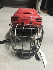 Red Hockey Helmet