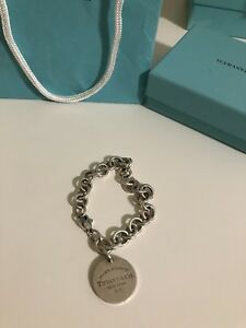 100% Authentic Return To Tiffany Round Tag Bracelet