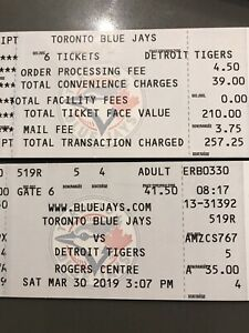 Blue Jays Tickets - This Sat March 30 at 3pm vs Detroit
