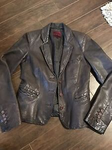 Leather Coat size small