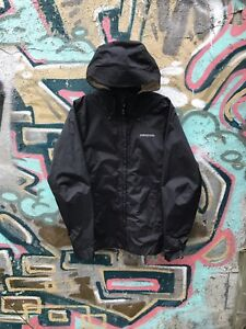 Women's Black Patagonia Windbreaker Jacket Size M