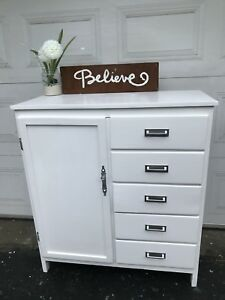 GORGEOUS White Antique Armoir with 5 drawers-120$