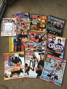 NME Rolling Stone Magazine Lot of 10 Radiohead Oasis Coldplay
