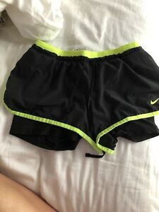 Size XS Nike running shorts with spandex