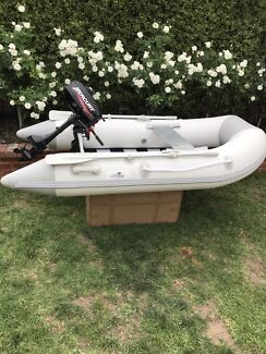 Newport 2.50m Inflatable Boat & 3.3hp Mercury Outboard Motor Dinghy