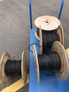 Four spools of 6 conductor shielded wire
