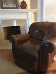 Two sofas and Leather recliner