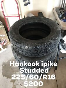 Hankook ipike (studded) winters 225/60/R16