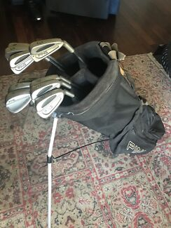 Ping Golf Clubs And Carry Bag