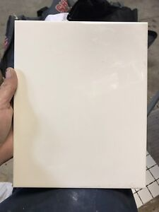 NEEDS TO GO - 39 solid white ceramic wall tiles