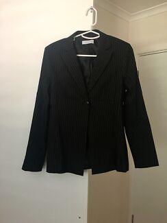 Portmans ladies black pinstripe suit, size 12, excellent condition
