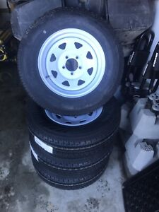 4 trailer tires and rims