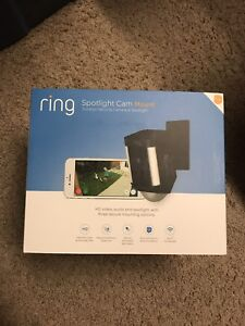 RING SPOTLIGHT CAM MOUNT-BLACK-120V-HD SECURITY CAM-BRAND NEW