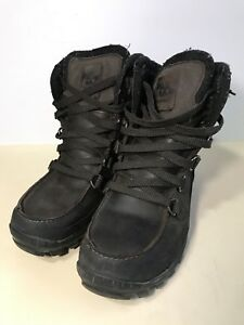 Used Timberland Mens Winter Boots Primaloft Brown