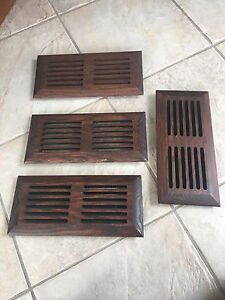 4 Wood vent covers