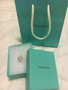 """Tiffany Notes I Love You pendant necklace - 16"""" chain RRP $205 Bronte Eastern Suburbs Preview"""