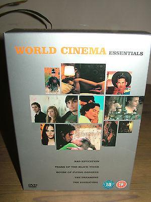 WORLD CINEMA ESSENTIAL 5-Disc DVD Box Set BAD EDUCATION/ DREAMERS...PAL REGION 2