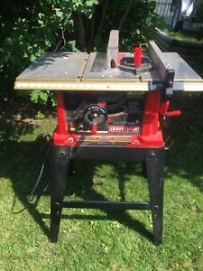 """Craftsman 10"""" Bench Saw on Stand"""