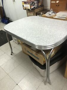 Diner style antique table