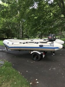 16ft quicksilver zodiac in perfect shape, 30 hp Johnson