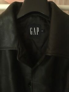 GAP 3/4 length thick leather jacket