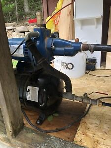 1/3 horsepower jet pump with pressure tank and control box .