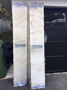 New vinyl shutters