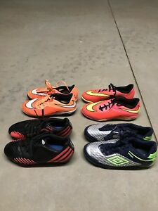 Young boys soccer boots