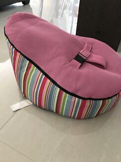 Kuchi Baby Bean Bag With 2 Covers Pink And Green