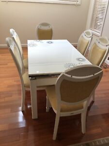 Marble-top Dining Table Set