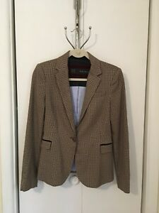 Zara Basics Ladies Medium Houndstooth Blazer