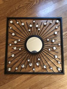 Black and jewelled decorative mirror/ wall decor