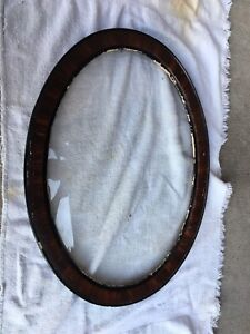 Antique Wooden Oval Picture Frame