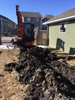 Trenching new power lines-gas lines-lots more
